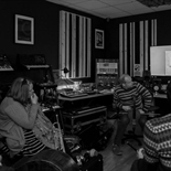Phil Kieran with Ulster Orchestra members at Celtronic Studios